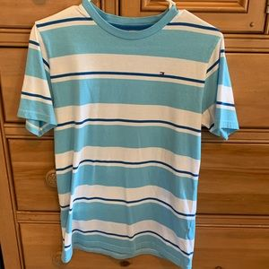 Tommy Hilfiger Blue and White Shirt For Boys